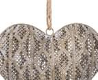 Lustre 27x25cm Hanging Heart w/ Jute Hanger - Antique Gold 3