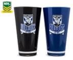 NRL Canterbury Bulldogs 2 x Pack Tumbler - Black/Blue 1
