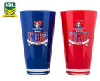 NRL Newcastle Knights 2 x Pack Tumbler - Blue/Red 1