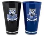 NRL Canterbury Bulldogs 2 x Pack Tumbler - Black/Blue 2
