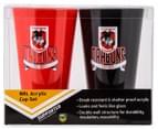 NRL St. George Illawarra Dragons 2 x Pack Tumbler - Red/Black 6