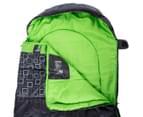 Caribee Moonshine 0C Sleeping Bag - Charcoal/Green 4