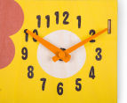 Louie Lion Clock - Yellow/Brown 4