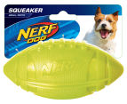 NERF Dog Medium Pro Grip Squeaker Football - Green 1