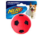 NERF Dog Small Crunchable Soccer Ball - Red 1