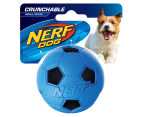 NERF Dog Small Crunchable Soccer Ball - Blue 1