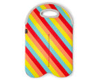 Avanti Insulated Twin Bottle Tote - Retro/Stripe 1