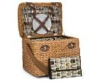 Avanti 4 Person Picnic Basket - Light Brown Willow/Bathing Box 1
