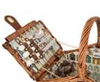 Avanti 2 Person Picnic Basket - Light Brown Willow/Bathing Box 3