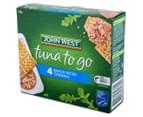 2 x John West Tuna To Go Snack Packs Original 244g 4pk 2