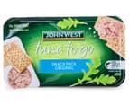 2 x John West Tuna To Go Snack Packs Original 244g 4pk 3
