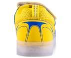 GLEAMKICKS Kids' Robo Gleamer Shoe - Blue/Yellow 4