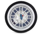 Ford 25.5cm LED Tyre Wall Clock - Black/Blue/Silver 1