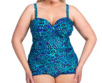 Sea Star Women's Tonia One Piece Swimsuit - Blues Animal 2