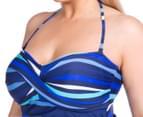 Sea Star Women's Nicola One Piece Swimsuit - Turquoise/Navy Stripe 6