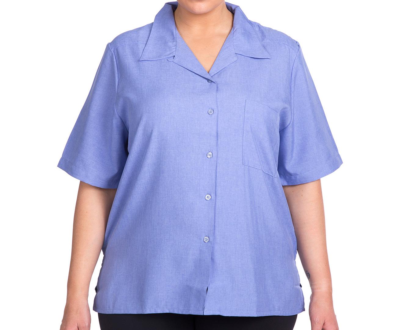 Stylecorp Women 39 S Plus Size Short Sleeve Shirt Chambray