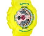CASIO Women's Baby-G Duo 45mm Watch - Yellow 2