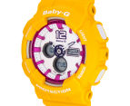 CASIO Women's Baby-G Duo 45mm Watch - Yellow 3