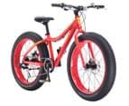 """Progear Kids' 24""""/60cm Beefy Fat Bike - Black w/Blue rims  2"""