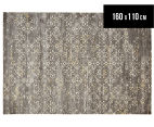 Emerald City 160x110cm Acadia Digital Print Soft Acrylic Rug - Grey 1