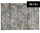 Emerald City 160x110cm Himalaya Digital Print Soft Acrylic Rug - Grey 1