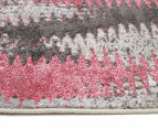 La Mode 230x160cm Kenzo Contemporary Rug - Pink 4