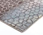 Emerald City 160x110cm Ethos Digital Print Soft Acrylic Rug - Blue 2