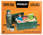 STANLEY Combo Pack Vacuum Flask and Cooler - Hammertone Green/Green 6
