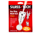 Swiss Tech Key Ring Multi-Tool - Silver 5