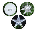 Artificial 2.1m LED 4-Colour Changing Optic Fibre Christmas Tree - Green 3