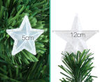 Artificial 2.4m LED Multi-Colour Changing Optic Fibre Christmas Tree - Green 3