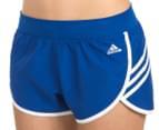 Adidas Women's Ultimate 3-Stripes Shorts - Blue/White 1