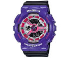 CASIO Women's Baby-G Duo 45mm Watch - Black/Purple 1