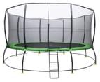 Lifespan Kids 16ft Spring Hyperjump Plus Trampoline with Steps - Black/Green 1