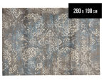 Emerald City 280x190cm Himalaya Digital Print Soft Acrylic Rug - Grey 1