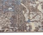 Emerald City 220x150cm Himalaya Digital Print Soft Acrylic Rug - Grey 3
