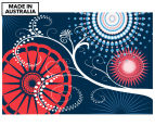 Swirly Tree Red & Blue 90x59cm Canvas Wall Art 1