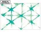 Batik Cross 90x59cm Canvas Wall Art - Green 1
