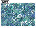 Quilted Blue 90x59cm Canvas Wall Art 1
