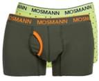 Mosmann Men's Boxer L-Leg Underwear 2-Pack - Green/Dots 1