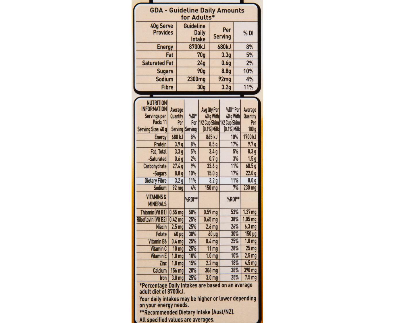 2 X Uncle Tobys Oat Crisp Cereal Honey Amp Macadamia 475g