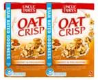 2 x Uncle Tobys Oat Crisp Cereal Honey & Macadamia 475g 1