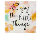 Enjoy 20x20cm Square Lacquered Wall Plaque - Multi 1