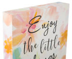 Enjoy 20x20cm Square Lacquered Wall Plaque - Multi 4