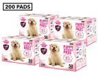 4 x Puppy Pet Dog Toilet Training Pads 50-Pack - Pink 1