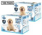 2 x Puppy Pet Dog Toilet Training Pads 50-Pack - Blue 1