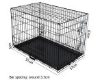 """Metal Collapsible 36""""/91cm Dog Cage  2"""