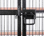 Pet Parrot 160cm Aviary Bird Cage with Wheels Stand - Black 5