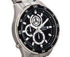 Casio Men's 50mm Edifice Chronograph Watch - Black/Silver 2