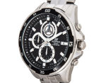 Casio Men's 50mm Edifice Chronograph Watch - Black/Silver 3